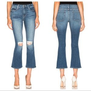 FRAME Le Crop Mini Boot Jeans in Stony Creek Wash